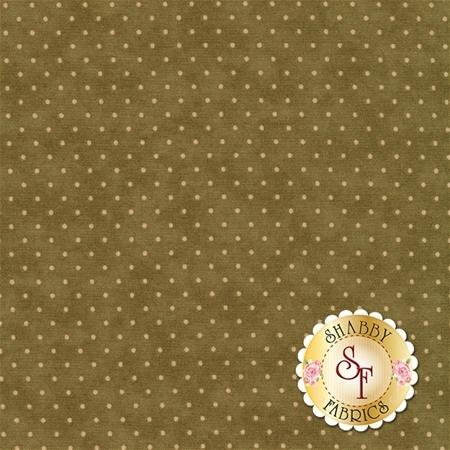 Moda Essential Dots 8654-17 Olive For Moda Fabrics