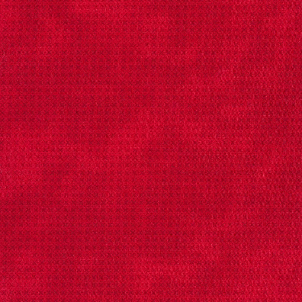 Tonal criss-cross marks all over a red background