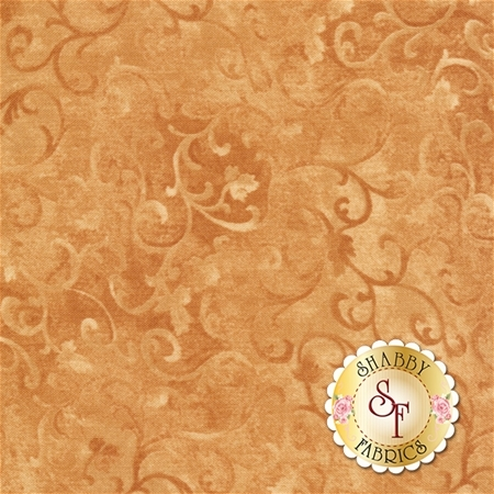 Essentials 89025-225 Scroll Dark Tan by Danhui Nai for Wilmington Prints