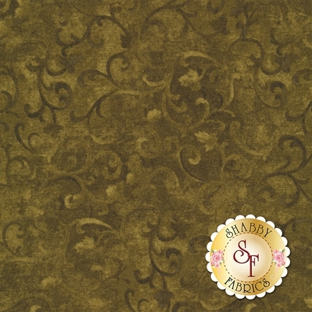Essentials 89025-700 Scroll Olive by Danhui Nai for Wilmington Prints