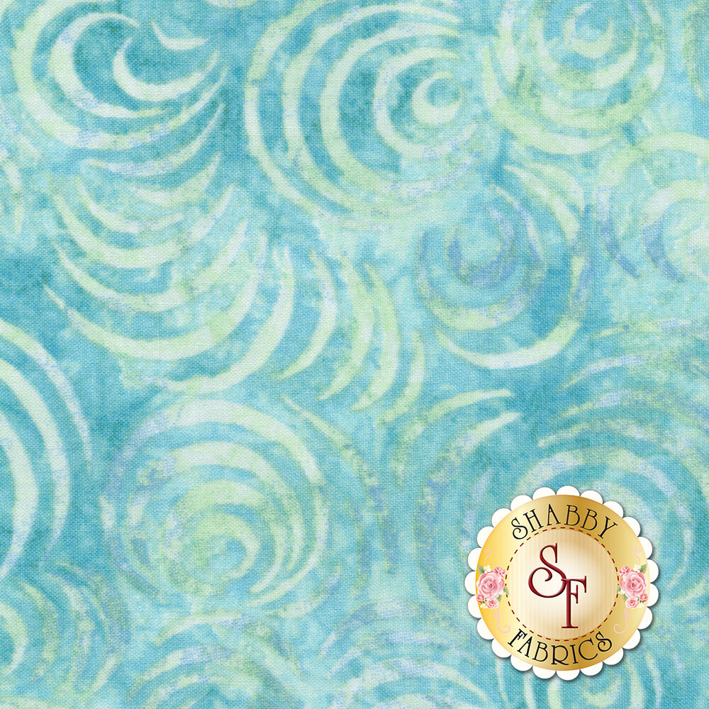 "Whirlpool Essential 108"" Backing 2083-407 Teal Available at Shabby Fabrics"