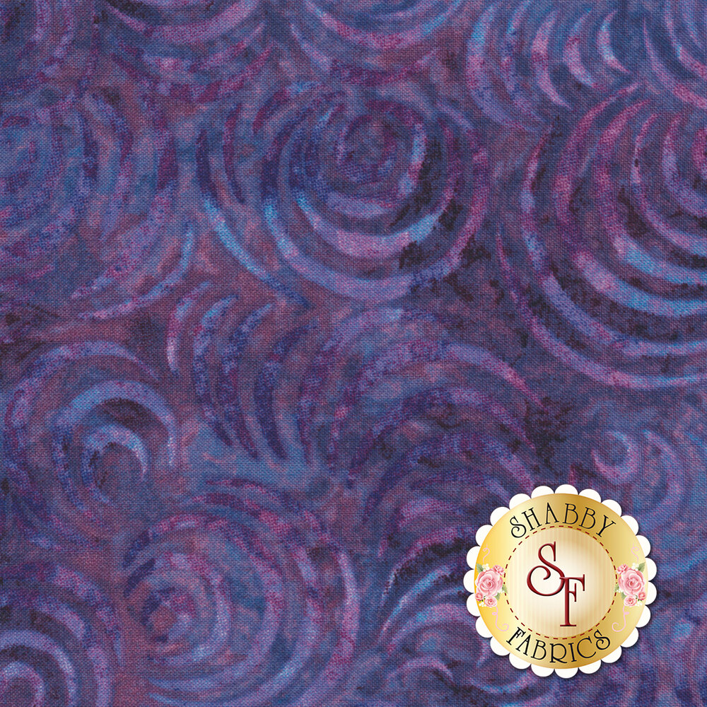 "Whirlpool Essential 108"" Backing 2083-669 Dark Purple Available at Shabby Fabrics"