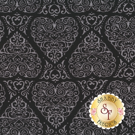 Ever After 19742-18 Beautiful Black by Deb Strain for Moda Fabrics