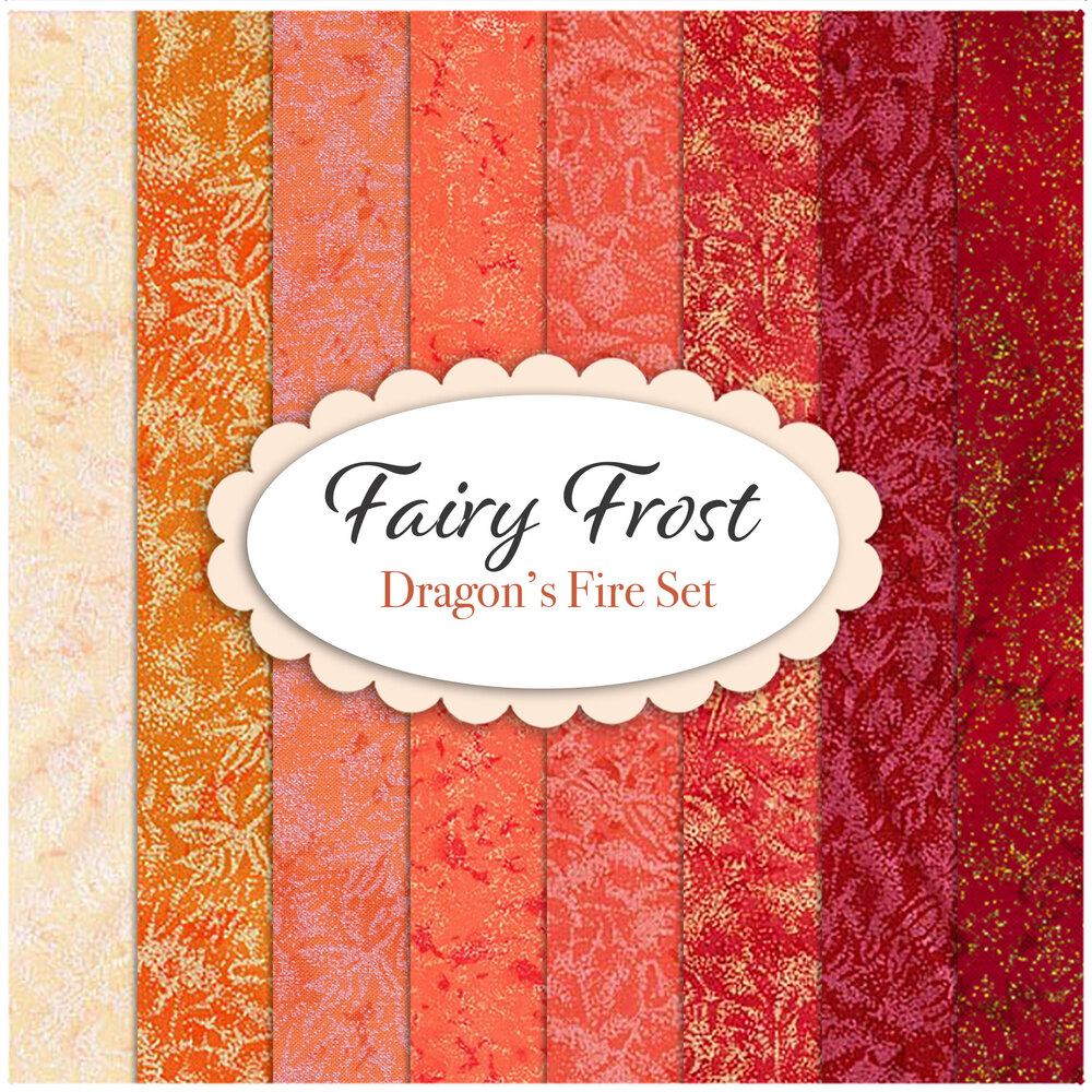 Fairy Frost  8 FQ Set - Orange Set by Michael Miller Fabrics | Shabby Fabrics