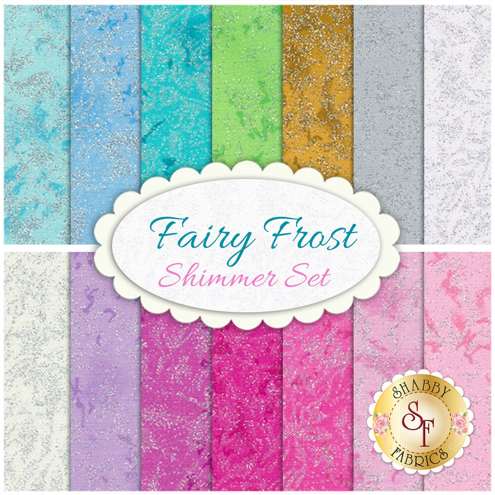 Fairy Frost  14 FQ Set - Shimmer Set by Michael Miller Fabrics