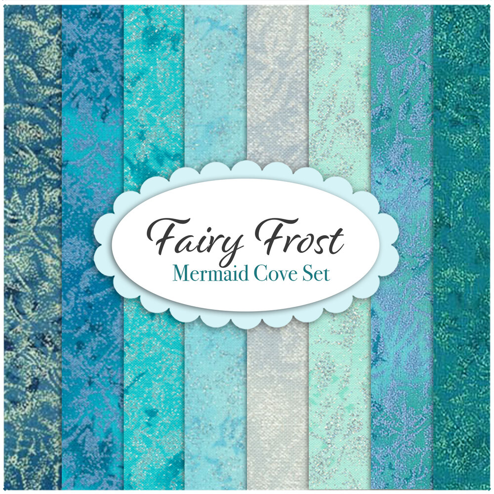 Fairy Frost  8 FQ Set - Mermaid Cove Set by Michael Miller Fabrics | Shabby Fabrics
