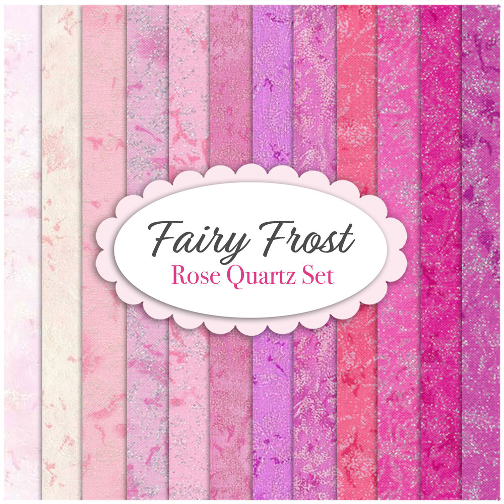 Fairy Frost  12 FQ Set - Pink Set by Michael Miller Fabrics | Shabby Fabrics