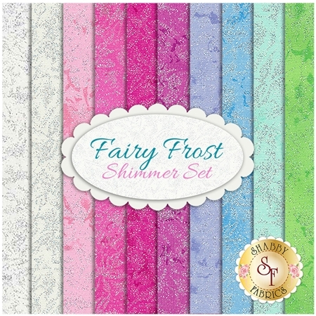 Fairy Frost  10 FQ Set - Shimmer Set by Michael Miller Fabrics