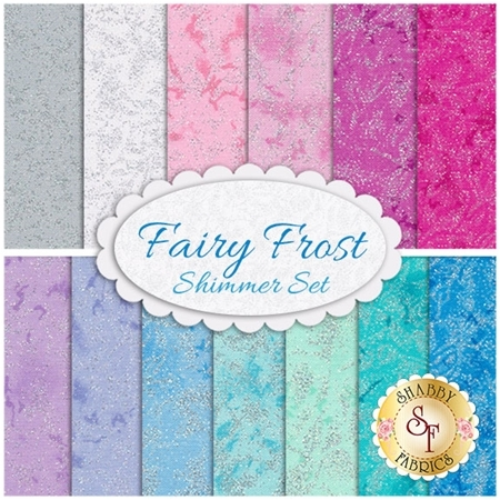 Fairy Frost  13 FQ Set - Shimmer Set by Michael Miller Fabrics