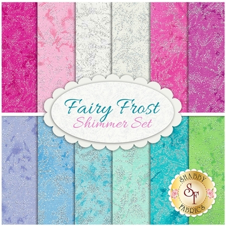 Fairy Frost  12 FQ Set - Shimmer Set by Michael Miller Fabrics
