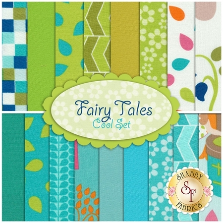 Fairy Tales 17 FQ Set - Cool Set  by Rachael Wright & Christine Sharp for RJR Fabrics