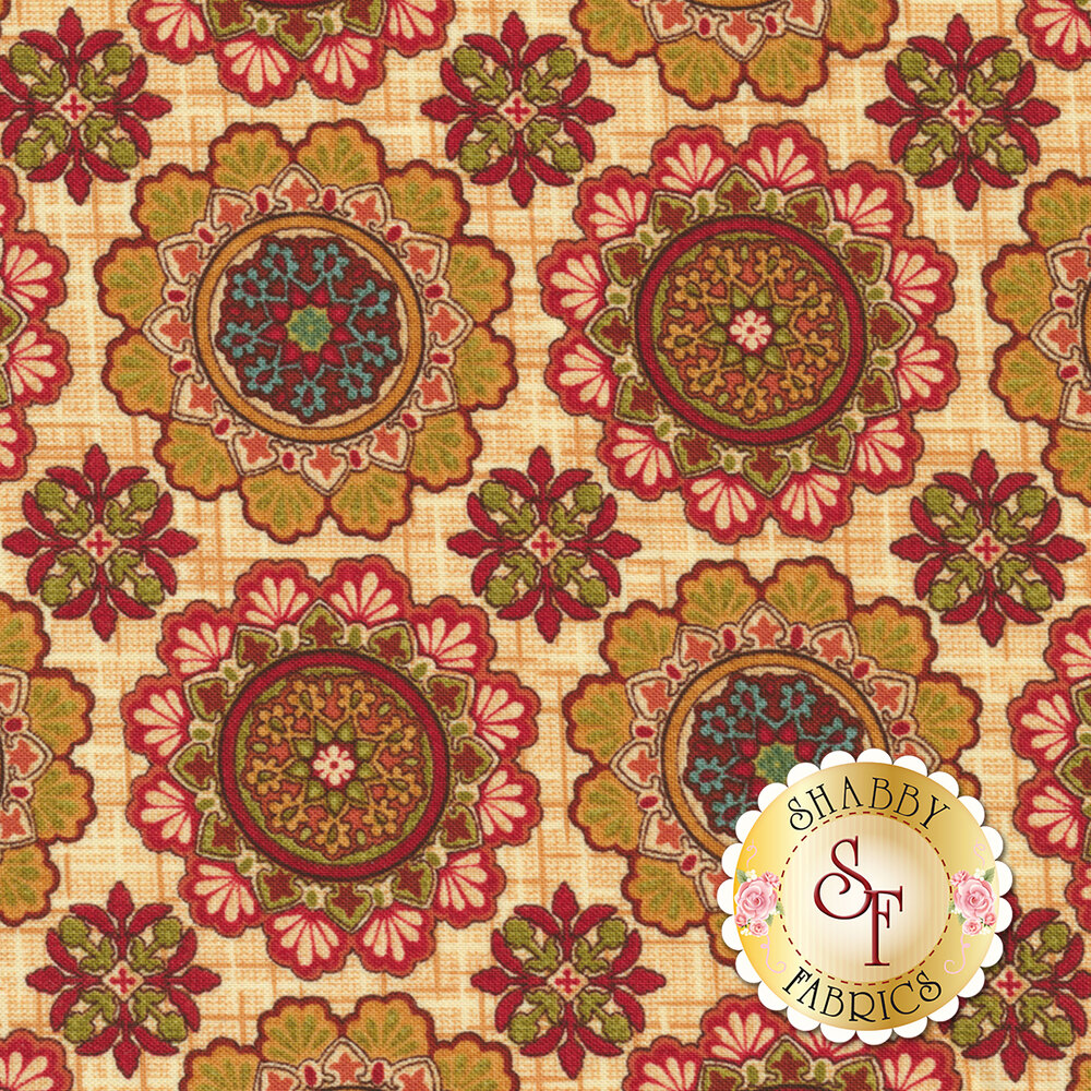 Fall Festival 4261-33 Medallions for Studio E Fabrics
