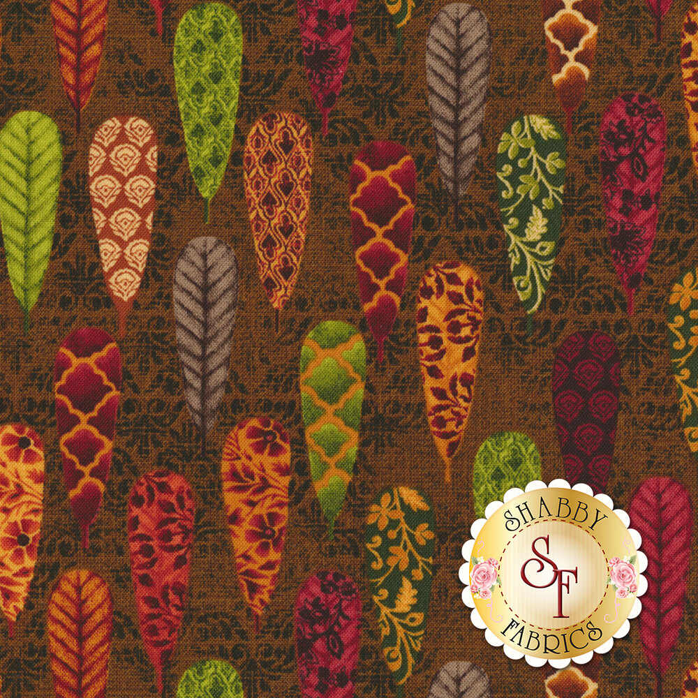 Fall Festival 4262-38 Feathers by Studio E Fabrics