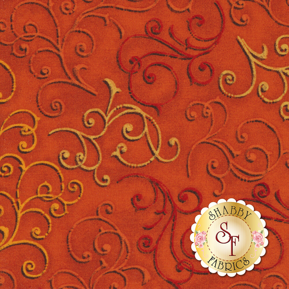 Fall Festival 4263-35 Scrolls for Studio E Fabrics