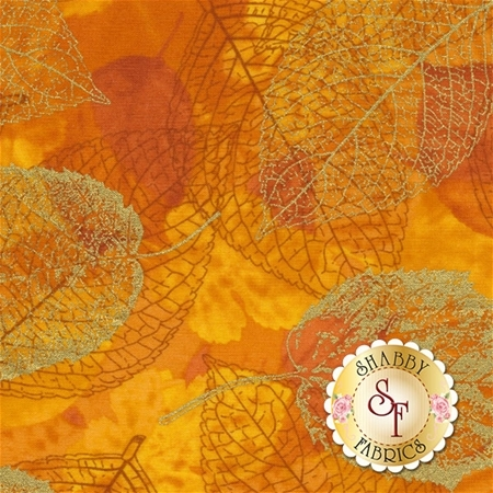 Falling For You P7606-529G Marigold/Gold by Hoffman Fabrics
