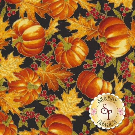 Falling For You P7607-4G Black/Gold by Hoffman Fabrics
