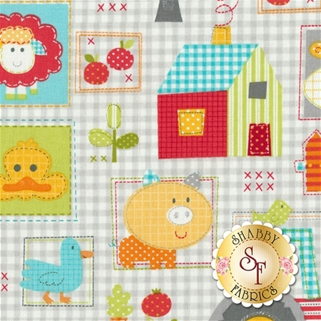 Farm Friends 61279-85 by Lucy A. Fazely for Exclusively Quilters Fabrics