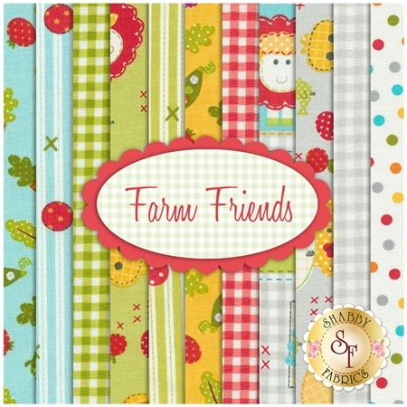 Farm Friends 11 FQ Set by Lucy A. Fazely for Exclusively Quilters Fabrics