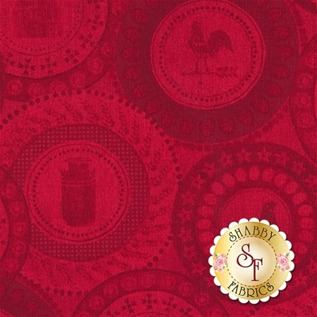 Farm To Table 41798-1 Red by Whistler Studios for Windham Fabrics