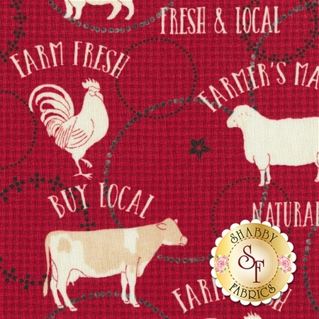 Farm To Table 41799-1 Red by Whistler Studios for Windham Fabrics
