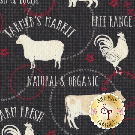 Farm To Table 41799-3 Black by Whistler Studios for Windham Fabrics