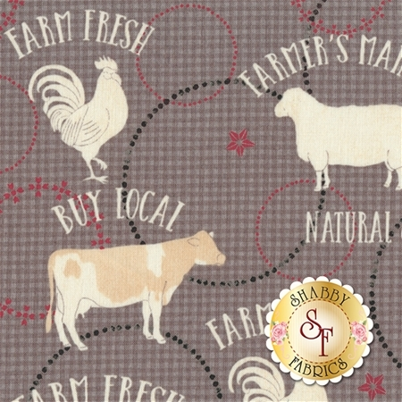 Farm To Table 41799-4 Grey by Whistler Studios for Windham Fabrics