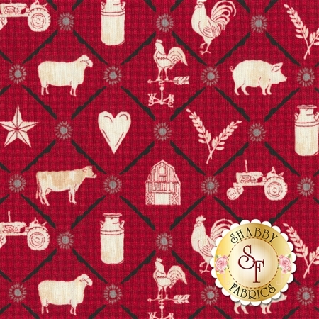 Farm To Table 41800-1 Red by Whistler Studios for Windham Fabrics