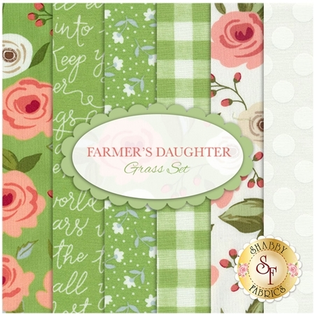 Farmer's Daughter  6 FQ Set - Grass Set by Lella Boutique for Moda Fabrics