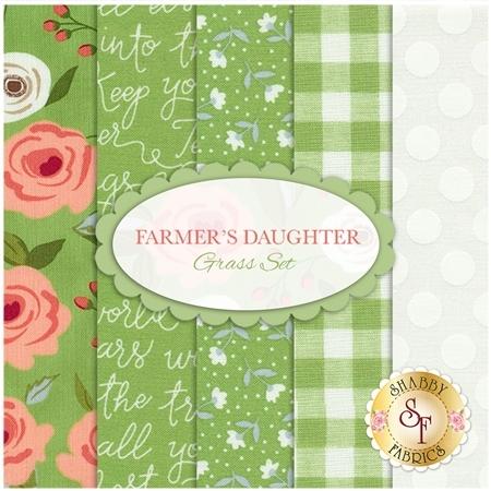 Farmer's Daughter  5 FQ Set - Grass Set by Lella Boutique for Moda Fabrics