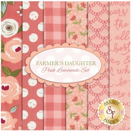 Farmer's Daughter  6 FQ Set - Pink Lemonade Set by Lella Boutique for Moda Fabrics