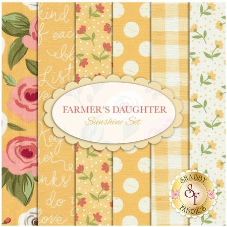 Farmer's Daughter  6 FQ Set - Sunshine Set by Lella Boutique for Moda Fabrics