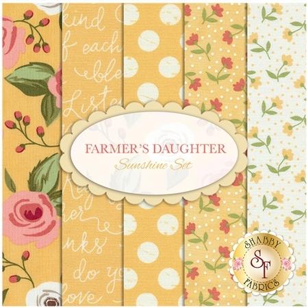 Farmer's Daughter  5 FQ Set - Sunshine Set by Lella Boutique for Moda Fabrics