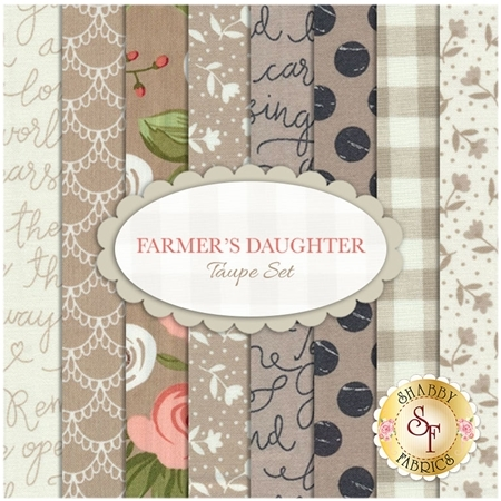 Farmer's Daughter  8 FQ Set - Taupe Set by Lella Boutique for Moda Fabrics