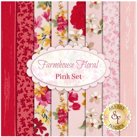 Farmhouse Floral  8 FQ Set - Pink Set by Riley Blake Designs