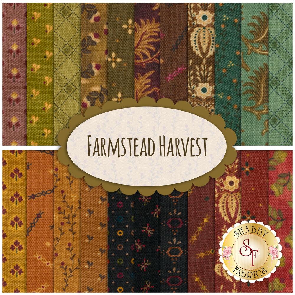 Farmstead Harvest  22 FQ Set by Kim Diehl for Henry Glass Fabrics
