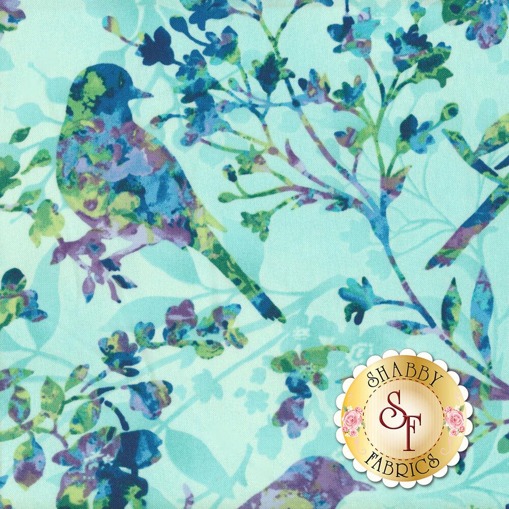 Feather & Flora 4492-76 Birds & Wildflowers by Studio E Fabrics