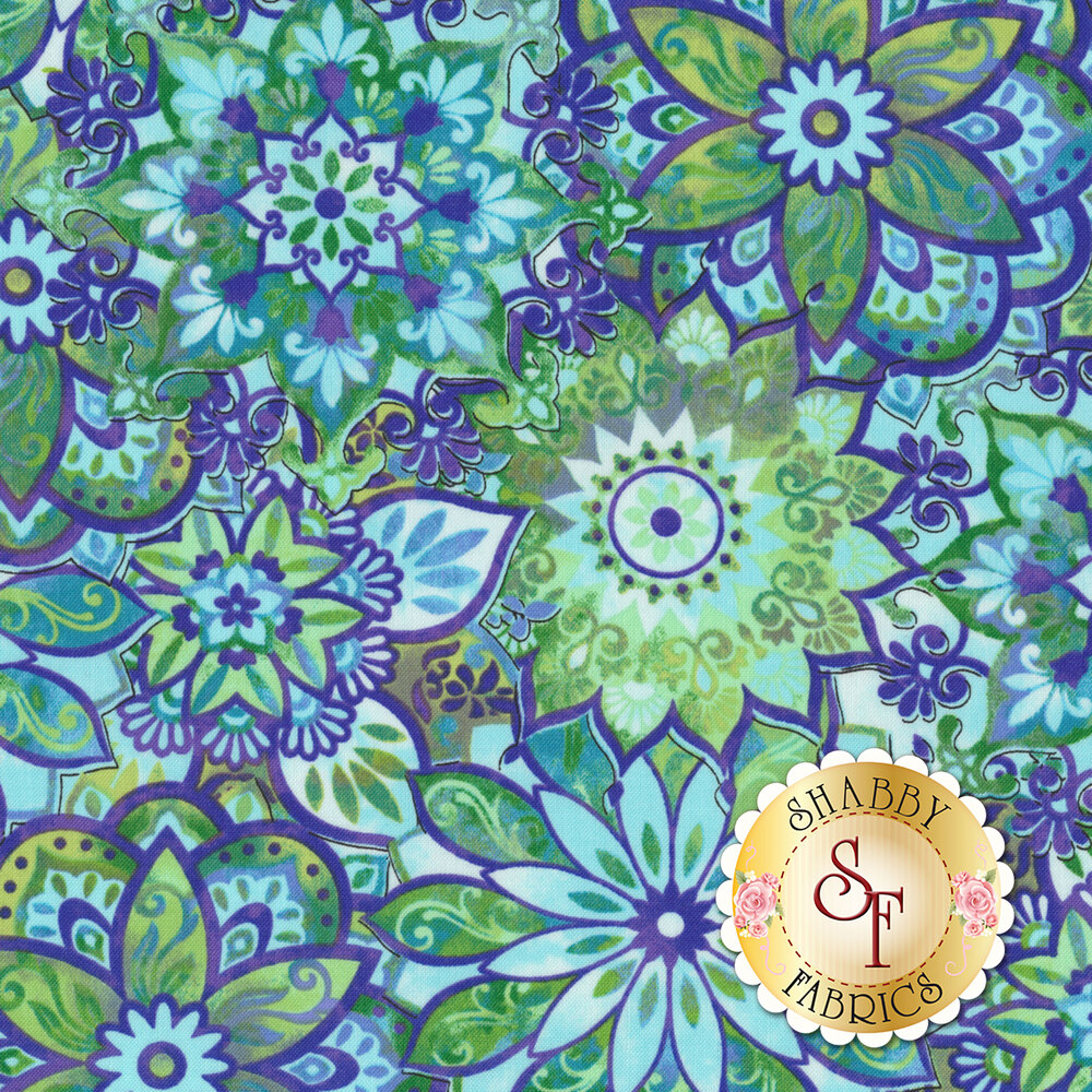 Feather & Flora 4498-77 Medallion by Elizabeth Isles for Studio E Fabrics