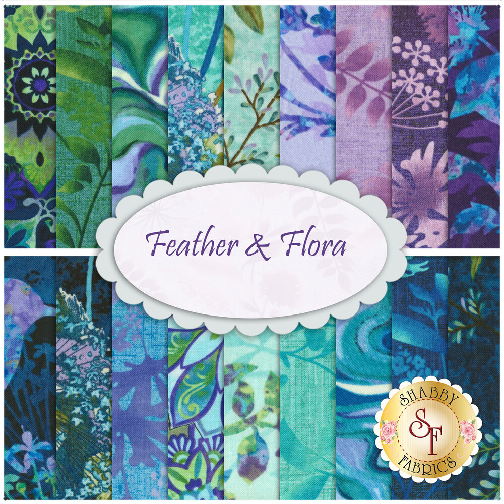 Feather & Flora FQ Set by Elizabeth Isles for Studio E Fabrics