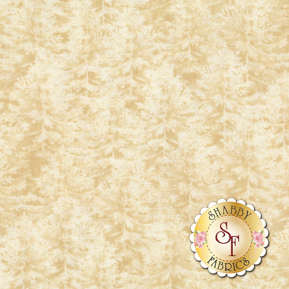 Tonal cream/tan forest fabric | Shabby Fabrics