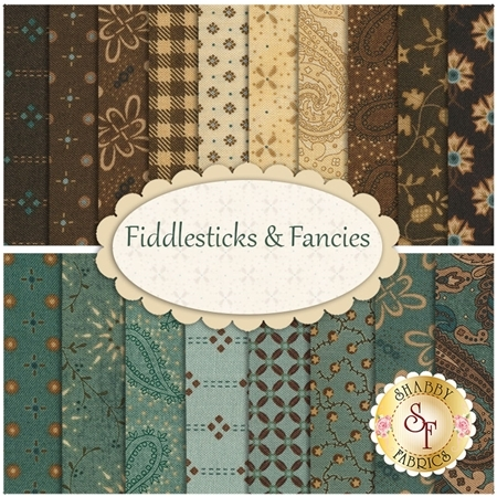 Fiddlesticks & Fancies  18 FQ Set by Kim Diehl for Henry Glass Fabrics
