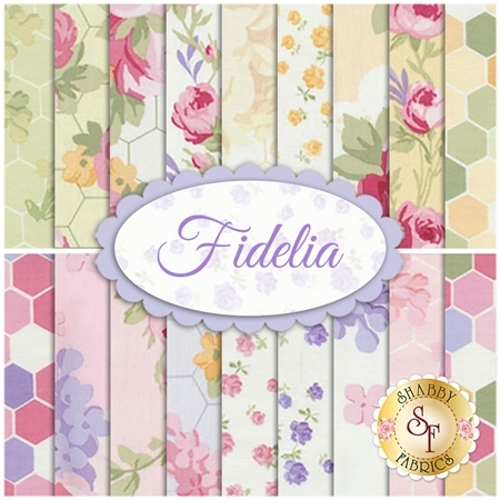Fidelia  18 FQ Set by Paula Arndt for Clothworks Fabrics