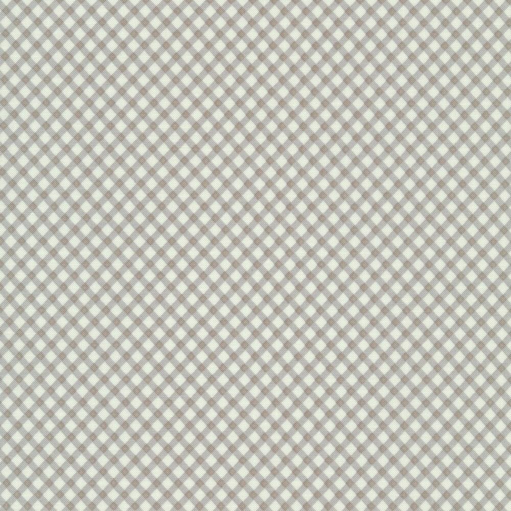 Diagonal gray gingham | Shabby Fabrics