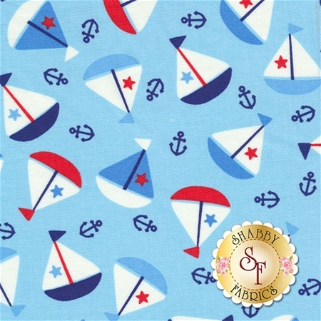 First Mate 21624-44 by Deborah Edwards for Northcott Fabrics
