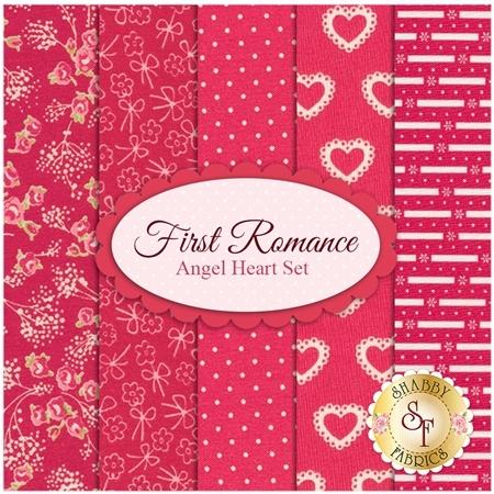First Romance  5 FQ Set - Angel Heart Set by Moda Fabrics
