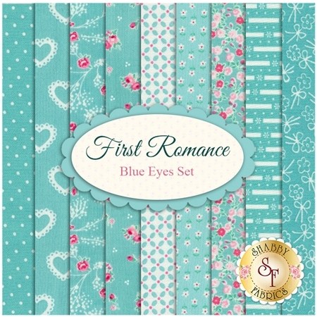 First Romance  9 FQ Set - Blue Eyes Set by Moda Fabrics