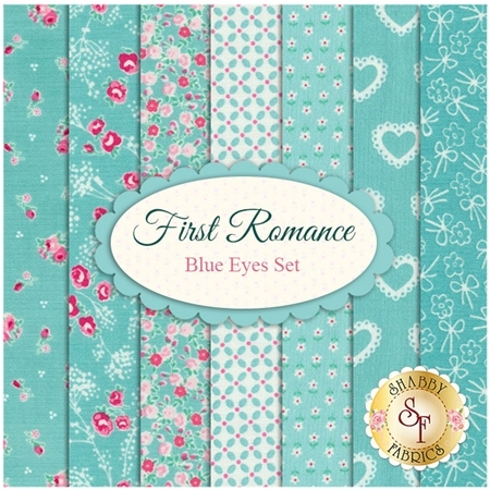 First Romance  7 FQ Set - Blue Eyes Set by Moda Fabrics