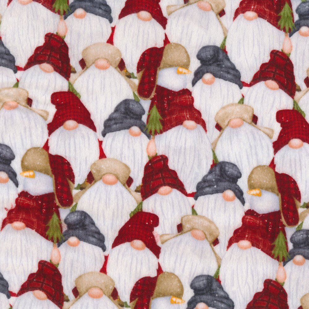 Gnomes all over | Shabby Fabrics