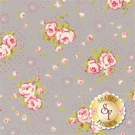 Fleurs 18631-16 Pebble by Brenda Riddle for Moda Fabrics