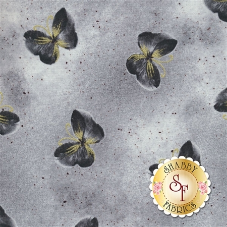 Floral Impressions 8674M-11 Butterfly Wash Light Gray by Kanvas Studio for Benartex Fabrics