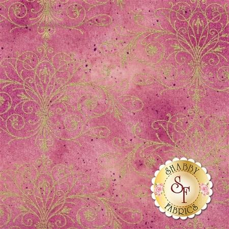 Floral Impressions 8679M-22 Washed Tonal Filigree Rose Gold by Kanvas Studio for Benartex Fabrics